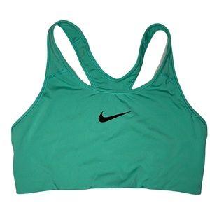 Nike Size Large Green Racer Back Sports Bra